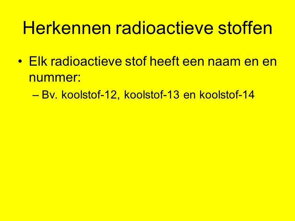 Herkennen radioactieve stoffen