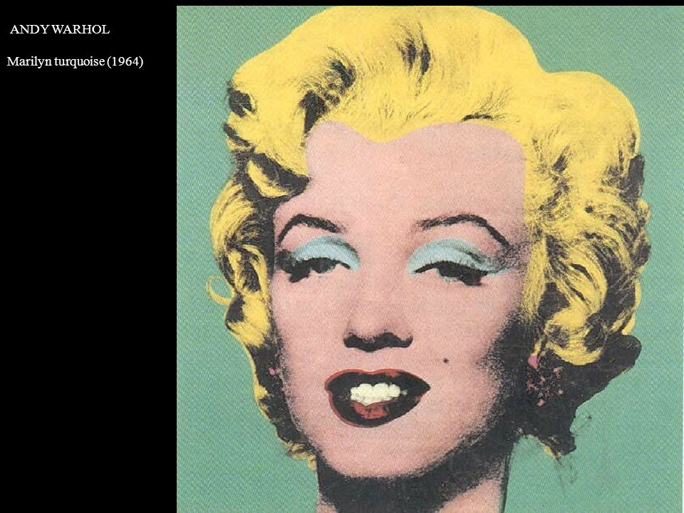 ANDY WARHOL Marilyn turquoise (1964)