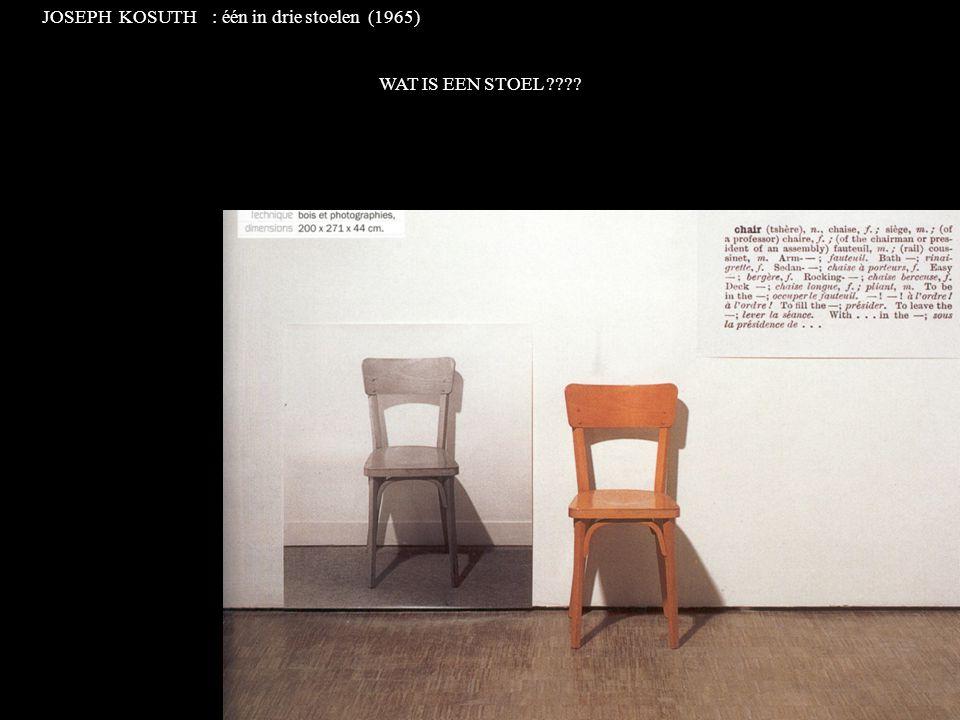 JOSEPH KOSUTH : één in drie stoelen (1965)