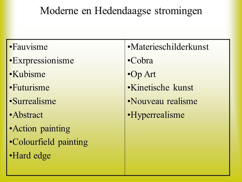 Moderne en Hedendaagse stromingen