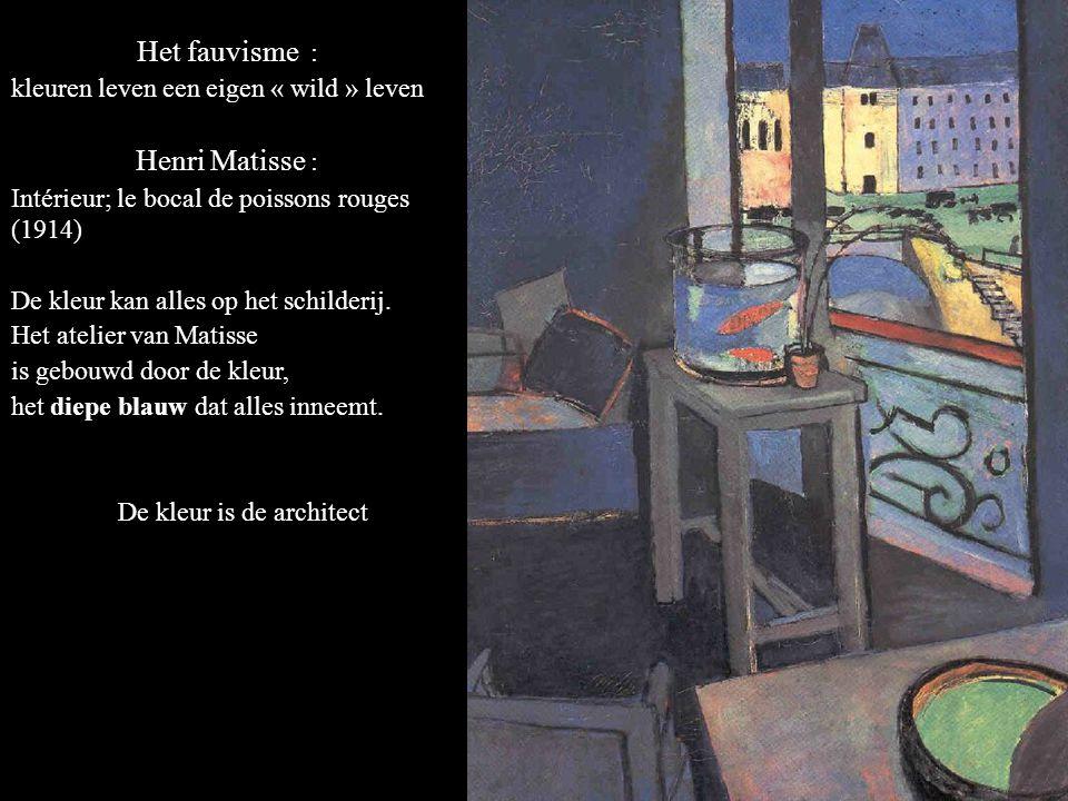 Het fauvisme : Henri Matisse : kleuren leven een eigen « wild » leven