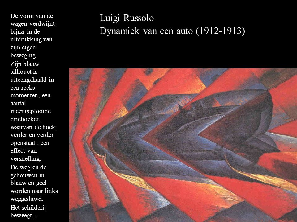Dynamiek van een auto (1912-1913)