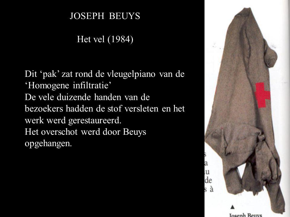 JOSEPH BEUYS Het vel (1984) Dit 'pak' zat rond de vleugelpiano van de 'Homogene infiltratie'