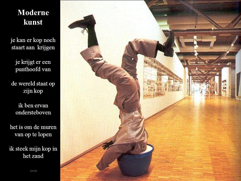 Moderne kunst je kan er kop noch staart aan krijgen