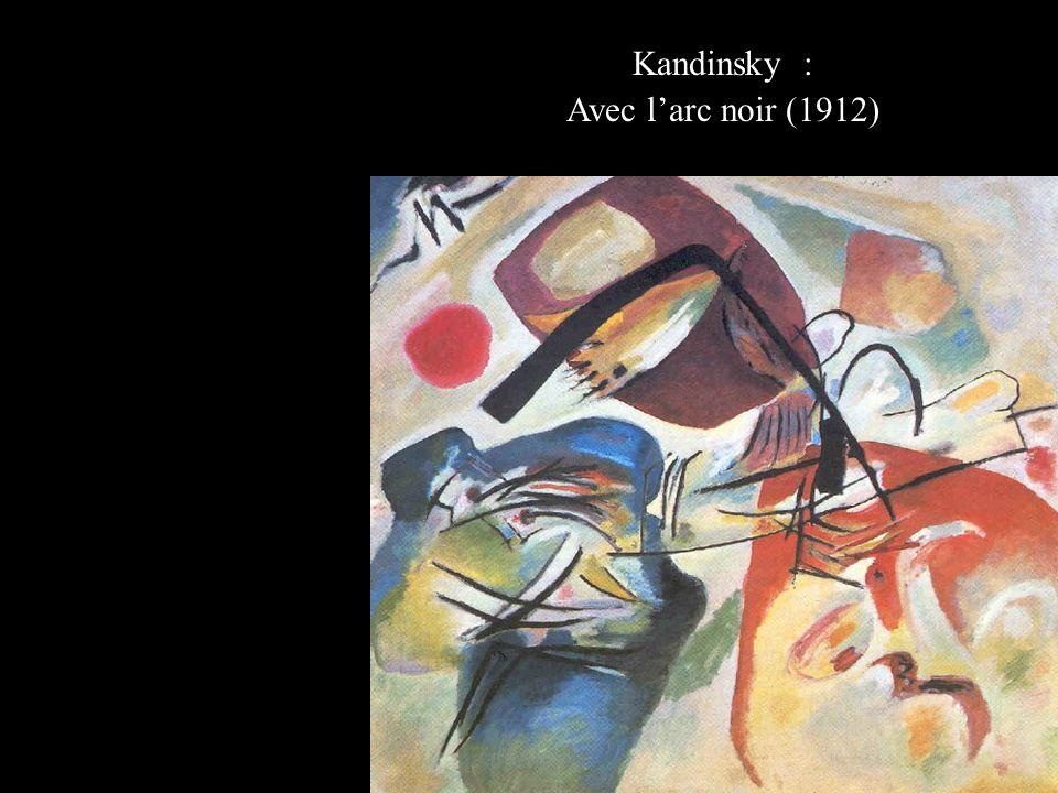 Kandinsky : Avec l'arc noir (1912)