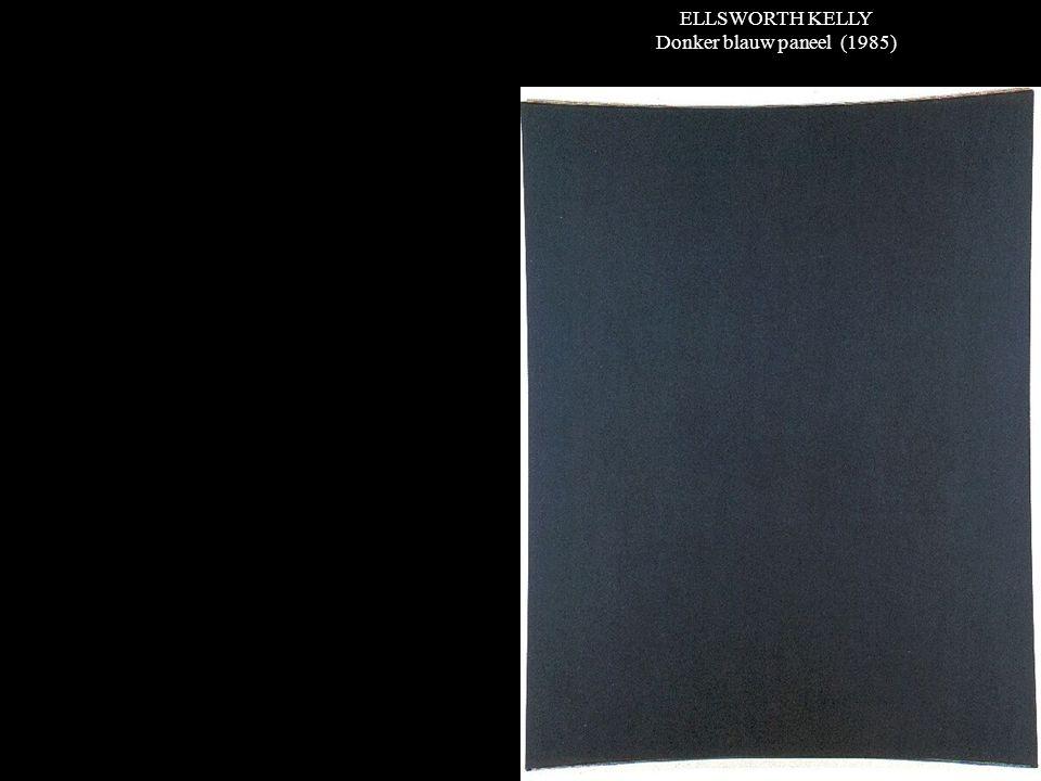 ELLSWORTH KELLY Donker blauw paneel (1985)
