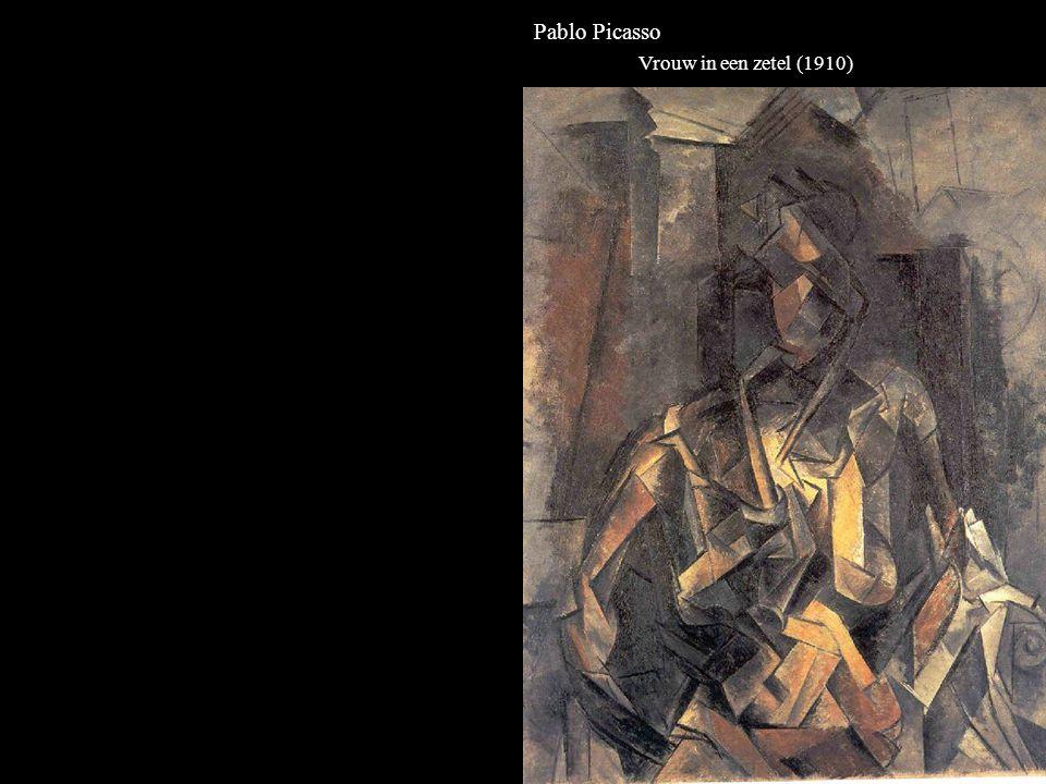 Pablo Picasso Vrouw in een zetel (1910)