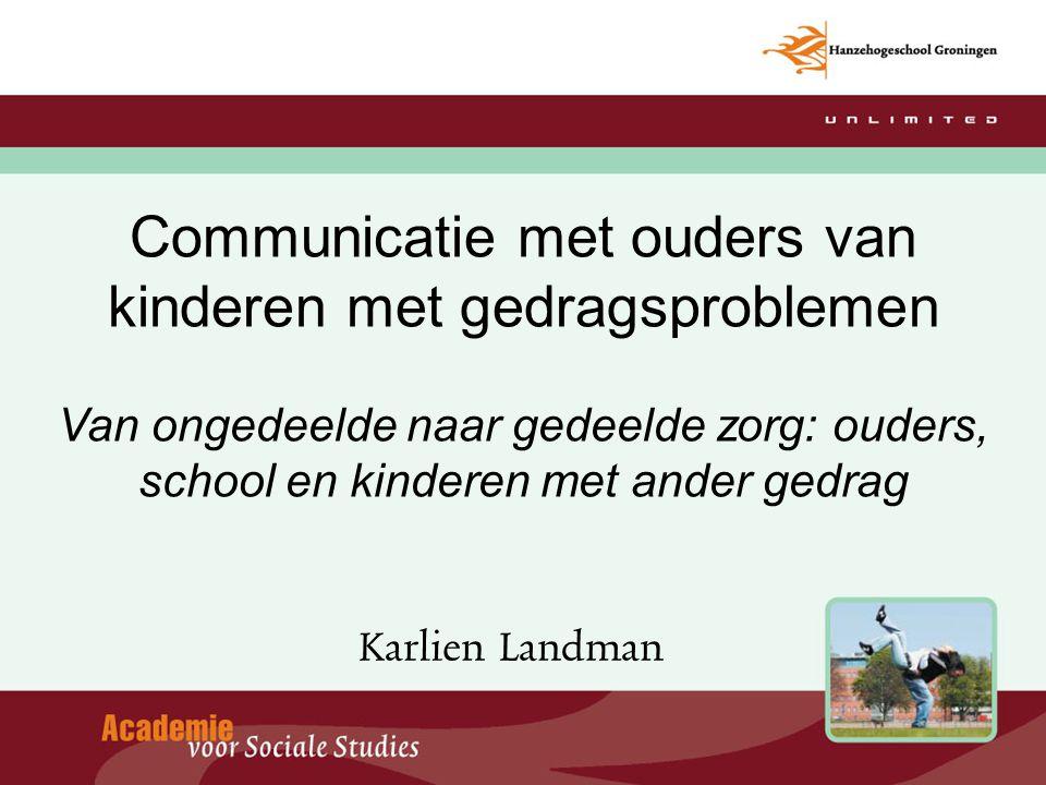 Communicatie met ouders van kinderen met gedragsproblemen