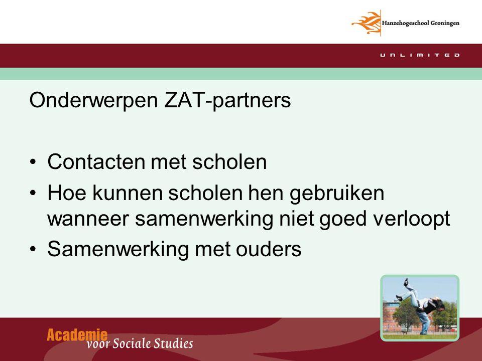 Onderwerpen ZAT-partners