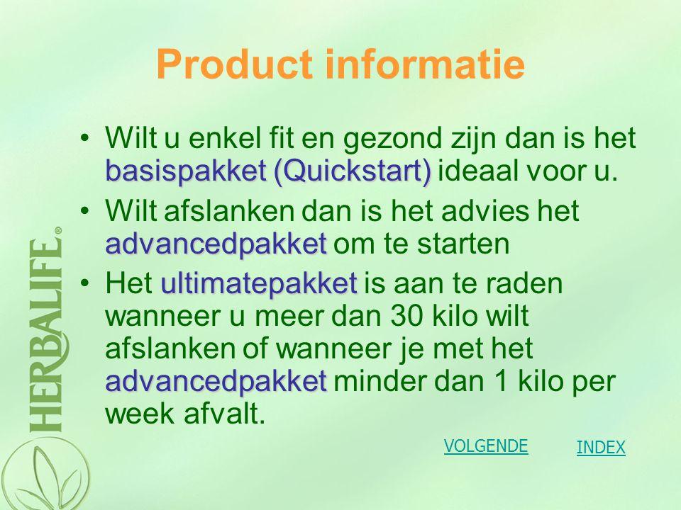 Product informatie Wilt u enkel fit en gezond zijn dan is het basispakket (Quickstart) ideaal voor u.