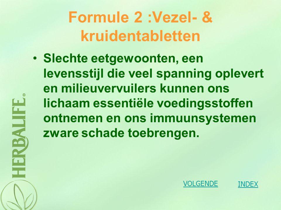 Formule 2 :Vezel- & kruidentabletten