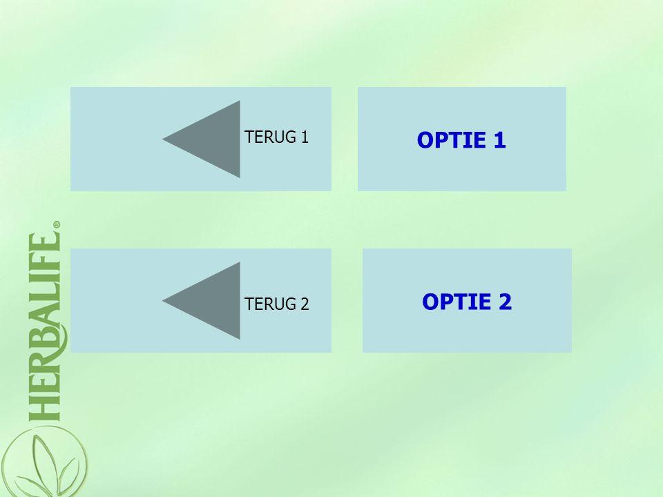 OPTIE 1 TERUG 1 OPTIE 2 TERUG 2