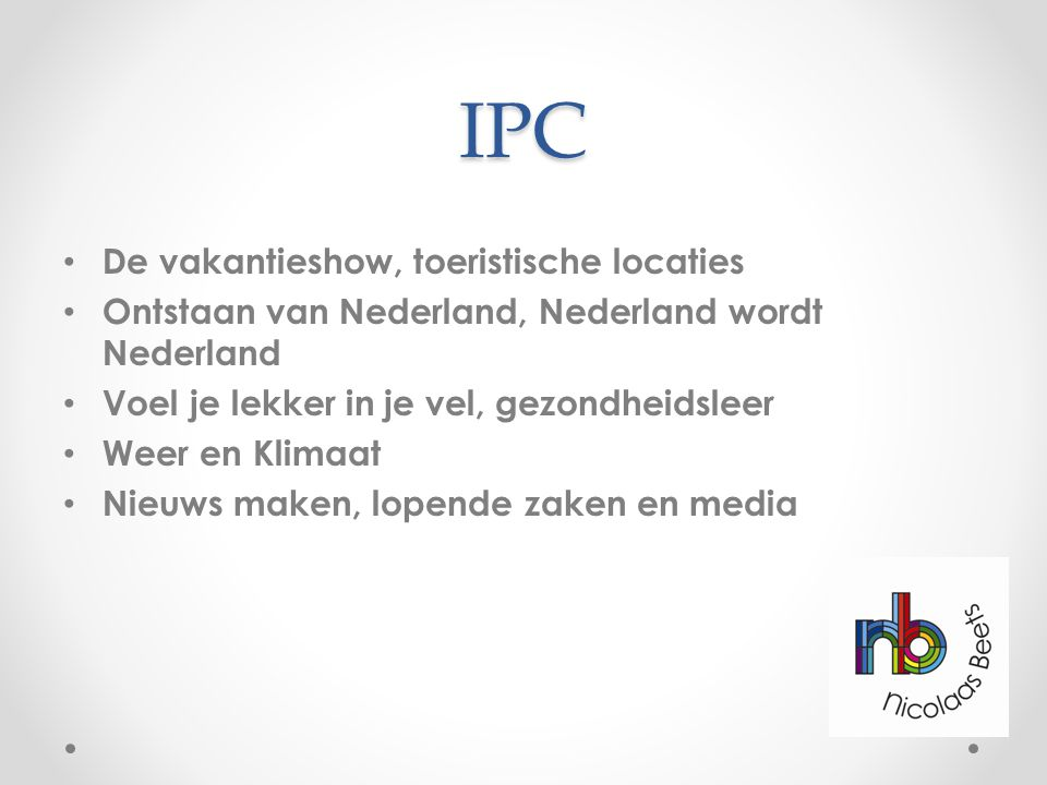 IPC De vakantieshow, toeristische locaties