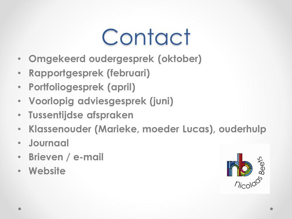 Contact Omgekeerd oudergesprek (oktober) Rapportgesprek (februari)