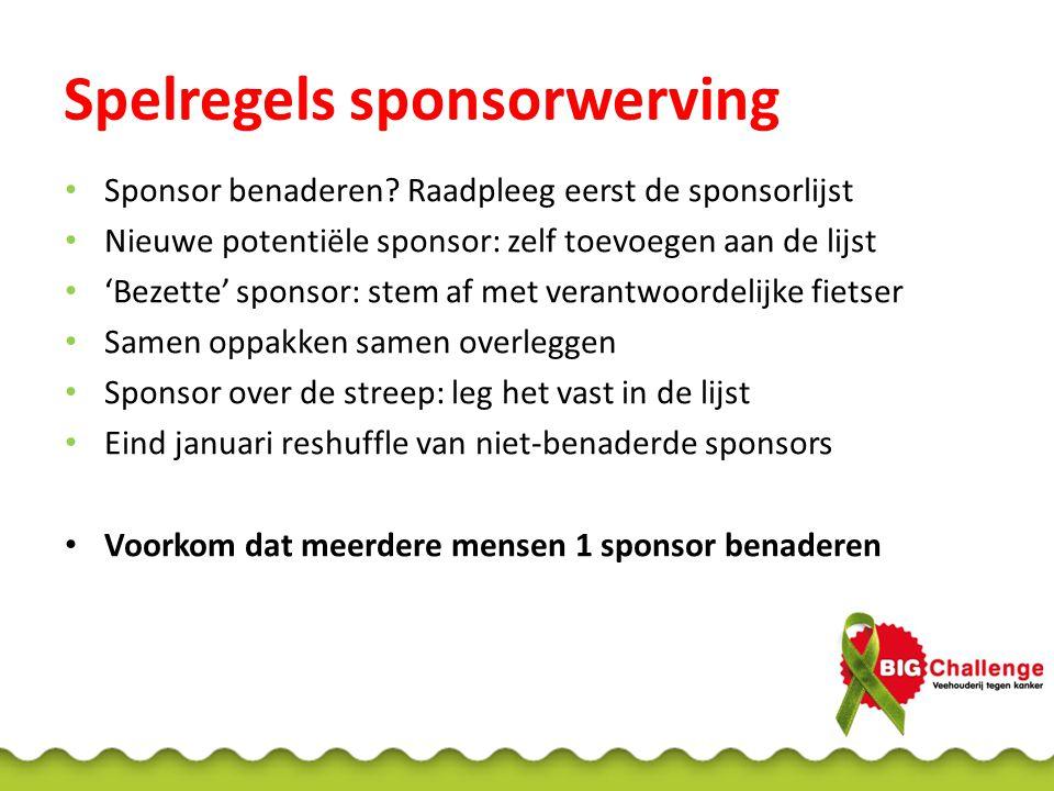 Spelregels sponsorwerving