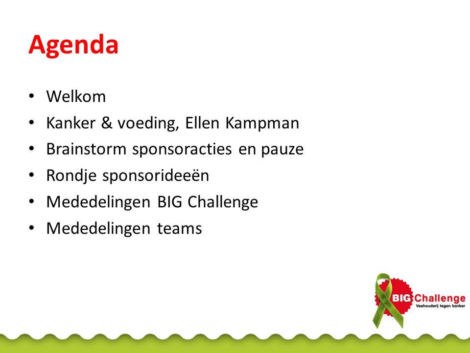 Agenda Welkom Kanker & voeding, Ellen Kampman