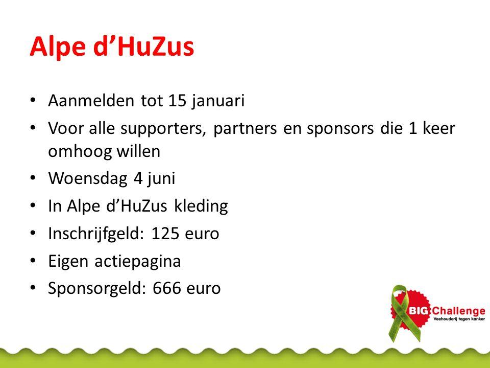 Alpe d'HuZus Aanmelden tot 15 januari