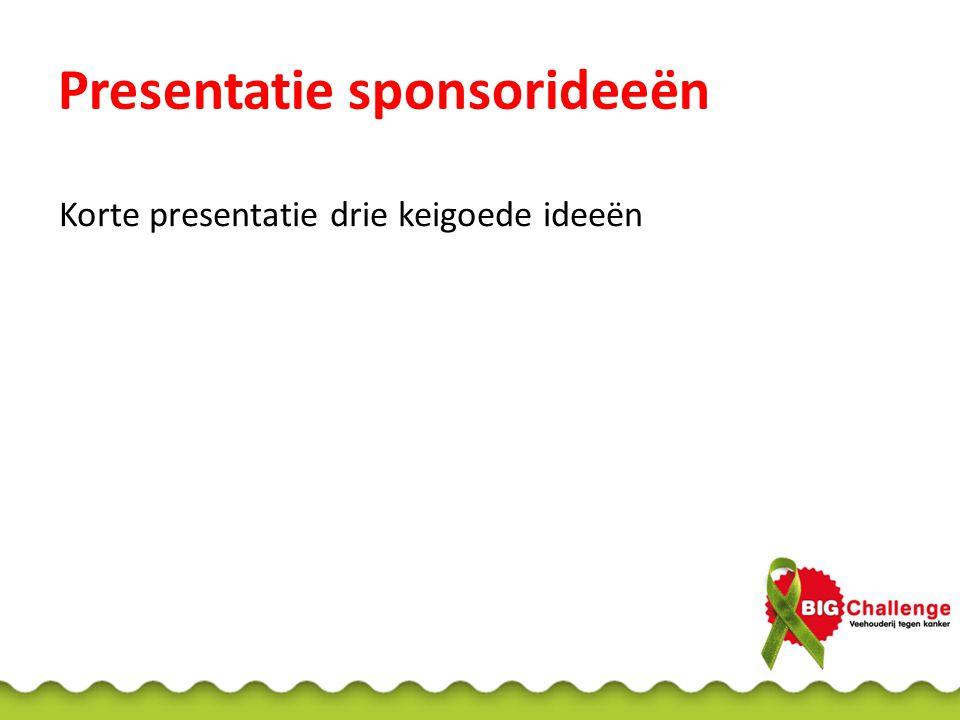 Presentatie sponsorideeën
