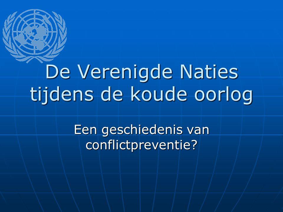 De Verenigde Naties tijdens de koude oorlog