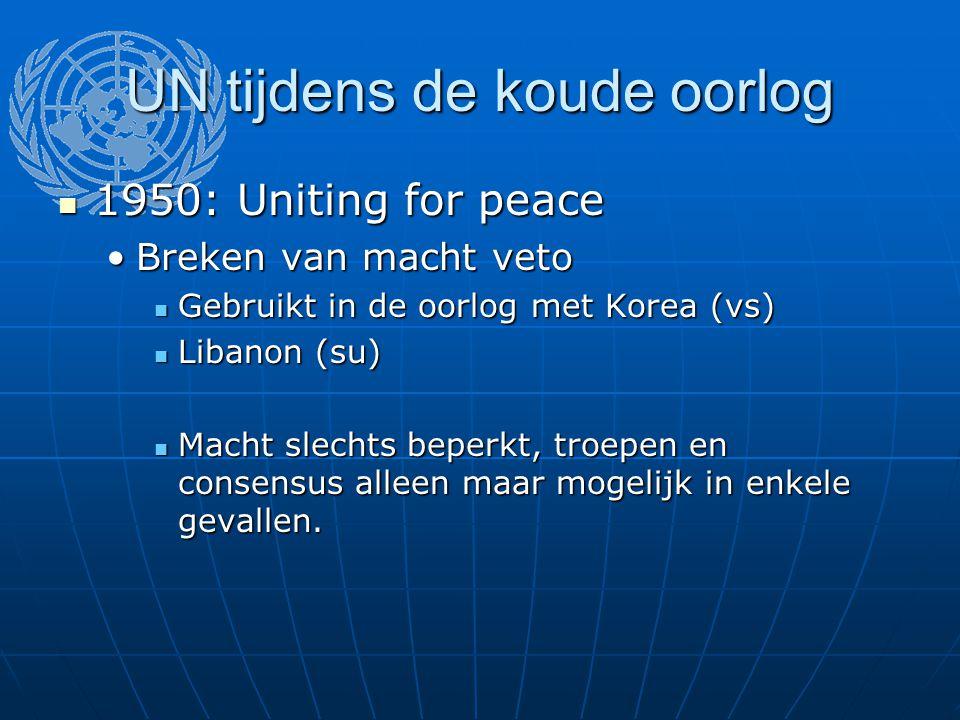 UN tijdens de koude oorlog