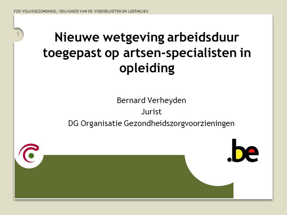 Bernard Verheyden Jurist DG Organisatie Gezondheidszorgvoorzieningen