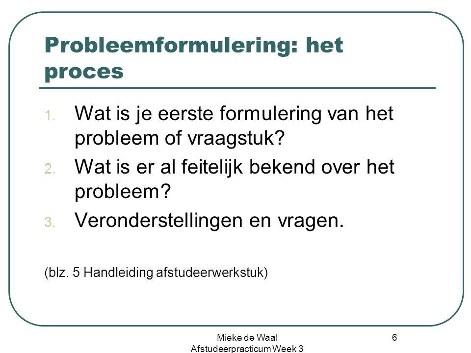 Probleemformulering: het proces