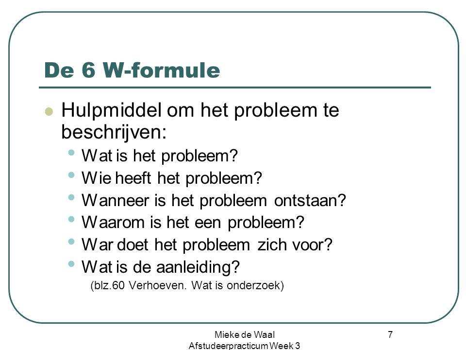 Mieke de Waal Afstudeerpracticum Week 3