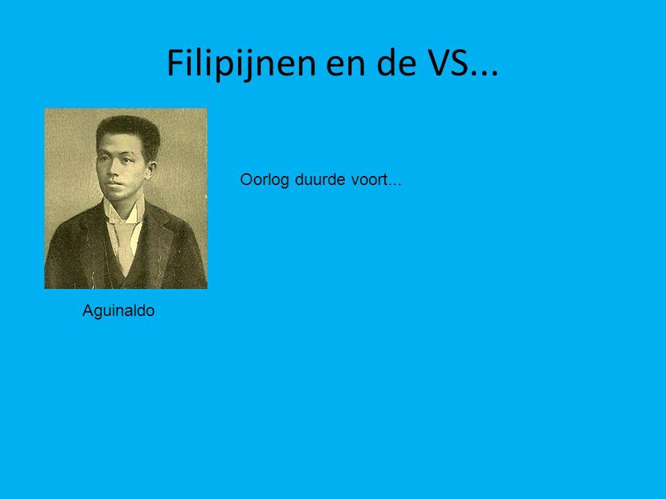 Filipijnen en de VS... Oorlog duurde voort... Aguinaldo