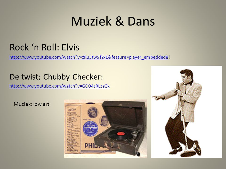 Muziek & Dans Rock 'n Roll: Elvis De twist; Chubby Checker:
