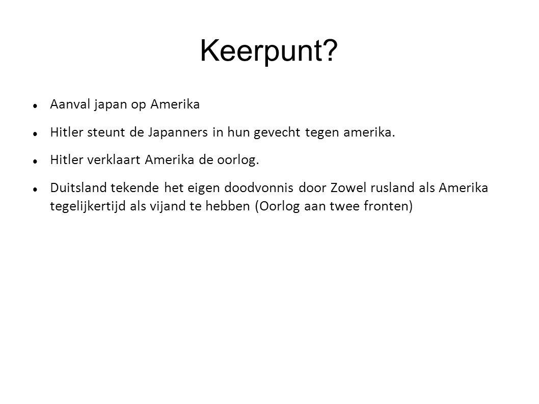 Keerpunt Aanval japan op Amerika