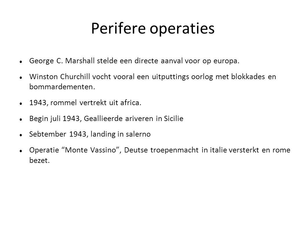 Perifere operaties George C. Marshall stelde een directe aanval voor op europa.