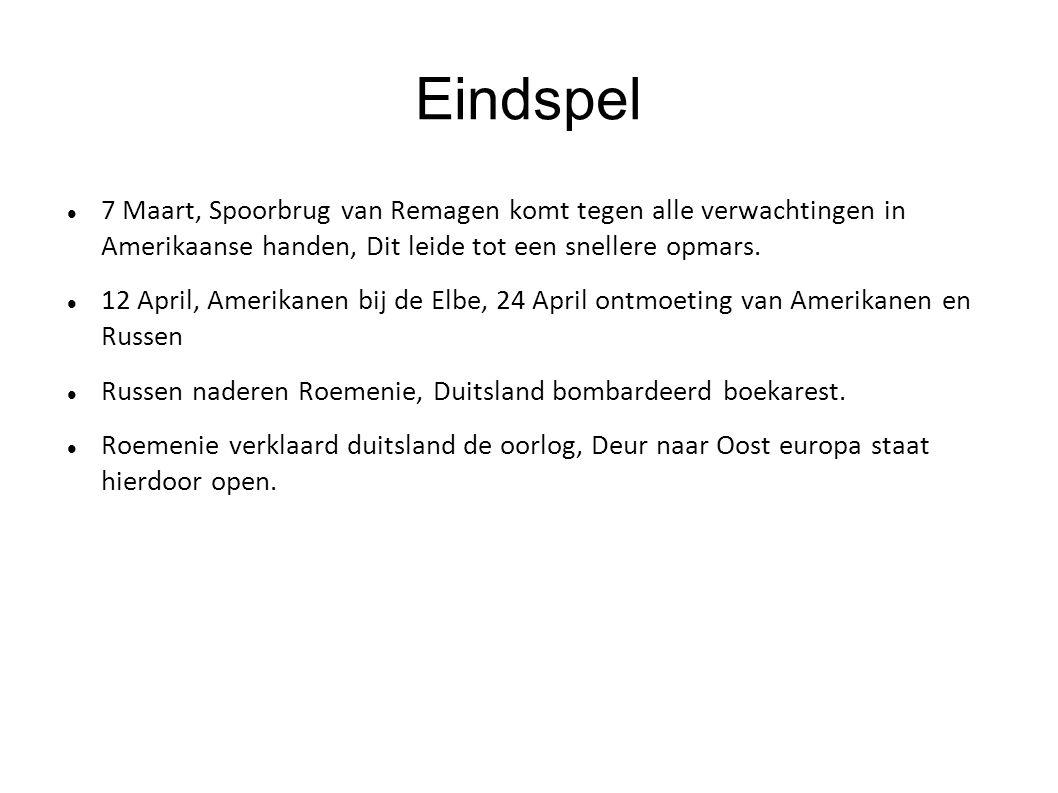 Eindspel 7 Maart, Spoorbrug van Remagen komt tegen alle verwachtingen in Amerikaanse handen, Dit leide tot een snellere opmars.