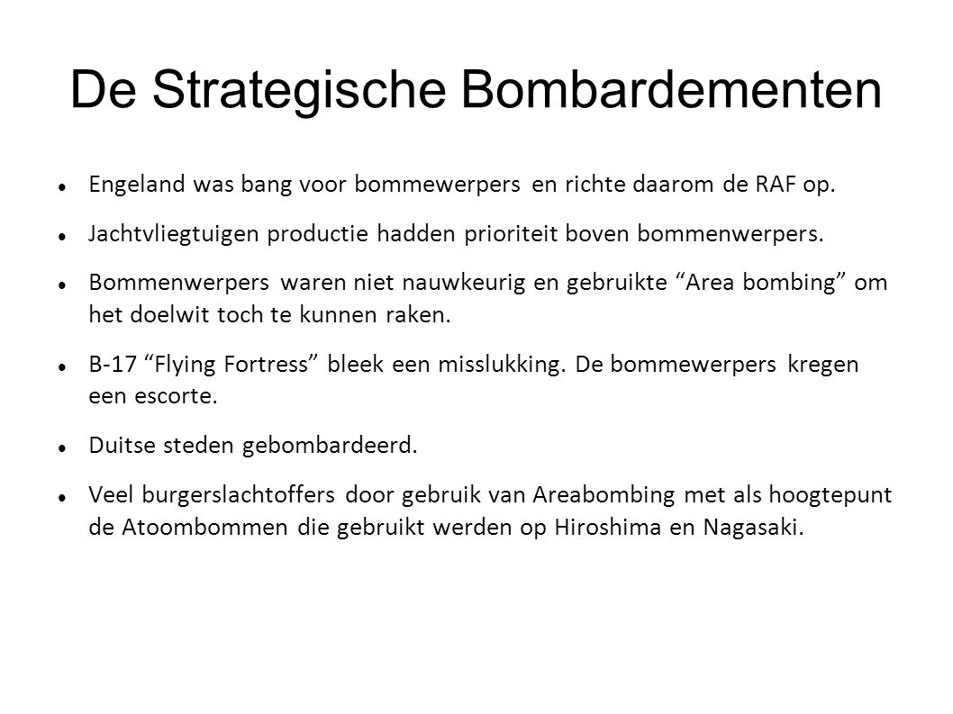 De Strategische Bombardementen