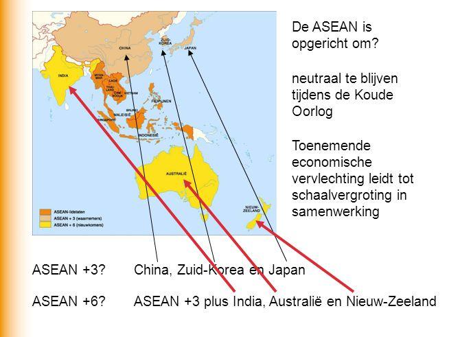 De ASEAN is opgericht om