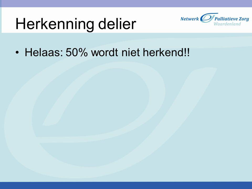 Herkenning delier Helaas: 50% wordt niet herkend!! blajbllablla