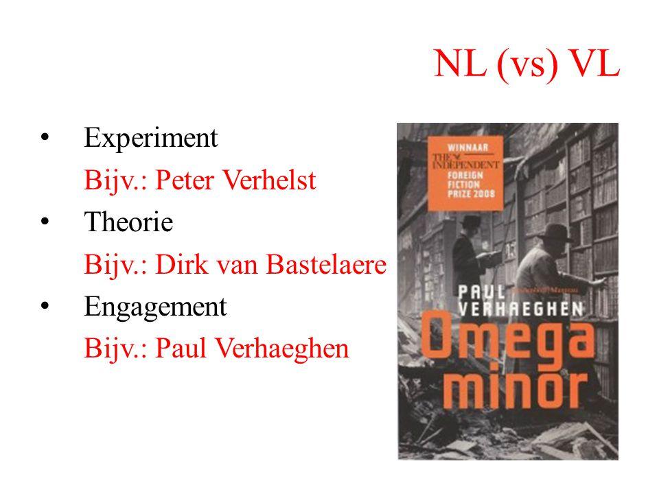 NL (vs) VL Experiment Bijv.: Peter Verhelst Theorie