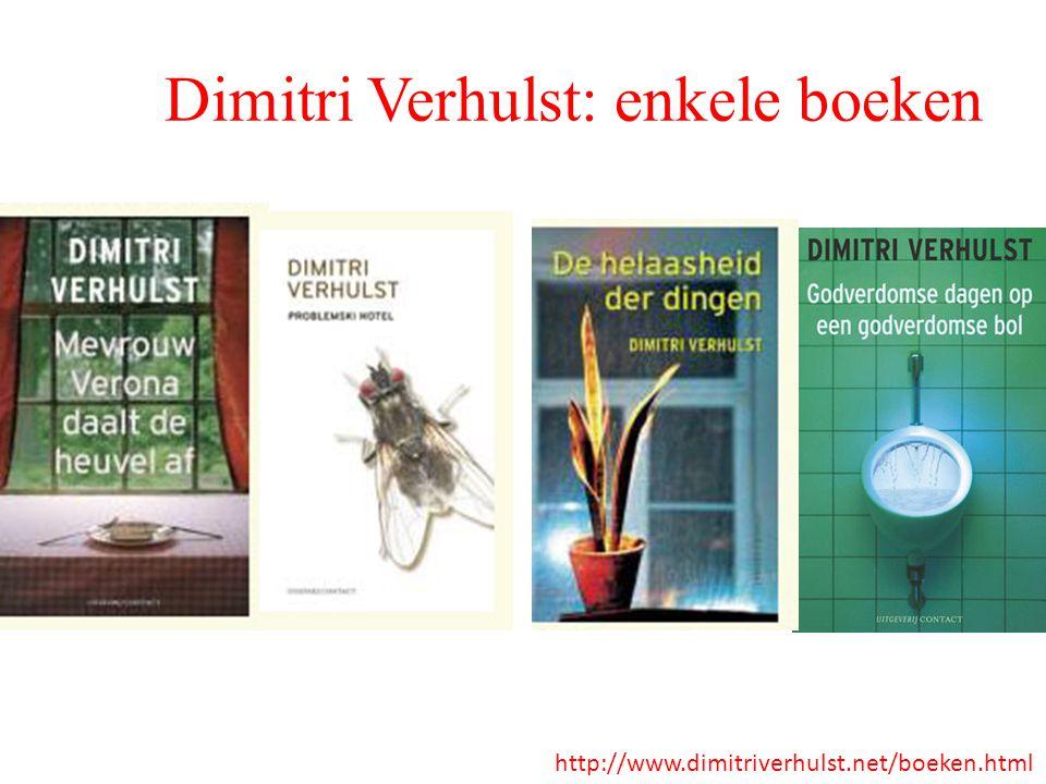 Dimitri Verhulst: enkele boeken