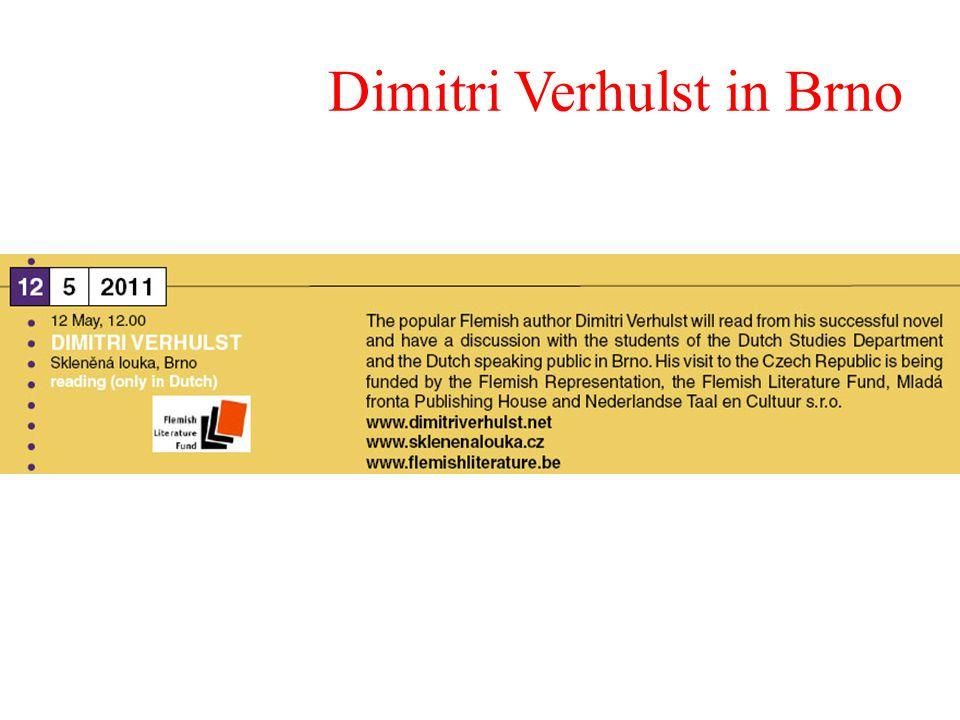 Dimitri Verhulst in Brno