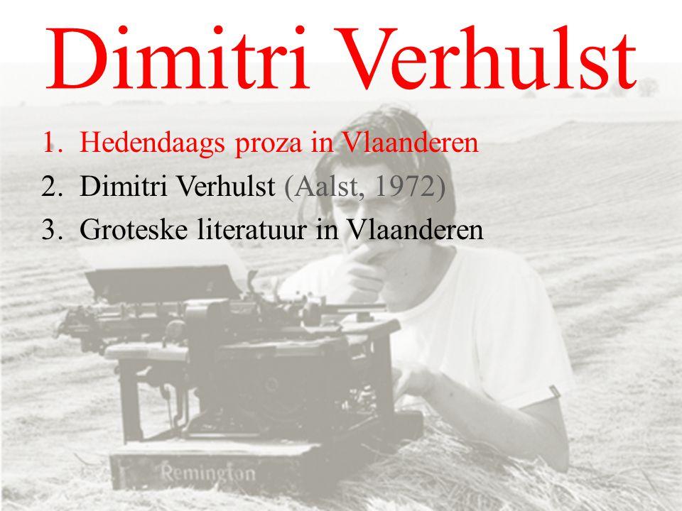 Dimitri Verhulst Hedendaags proza in Vlaanderen