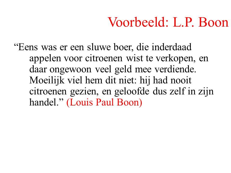 Voorbeeld: L.P. Boon