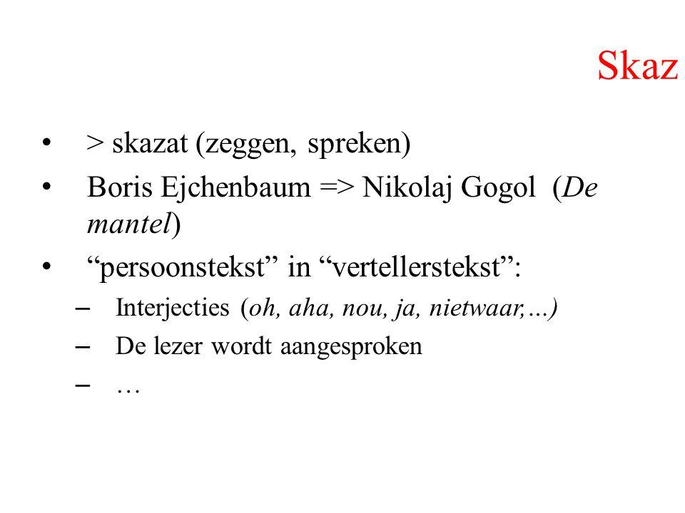 Skaz > skazat (zeggen, spreken)