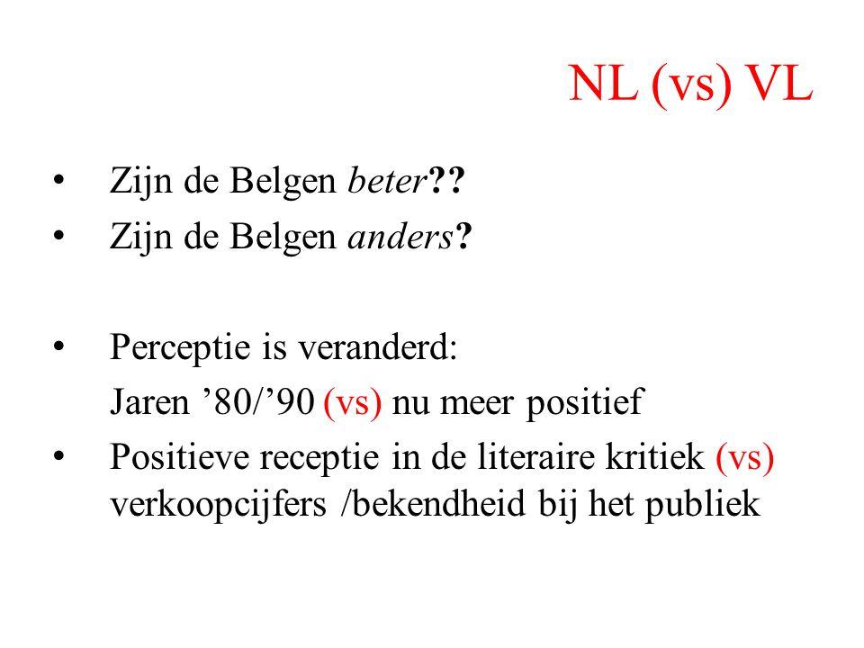 NL (vs) VL Zijn de Belgen beter Zijn de Belgen anders
