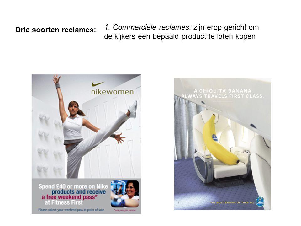 Drie soorten reclames: