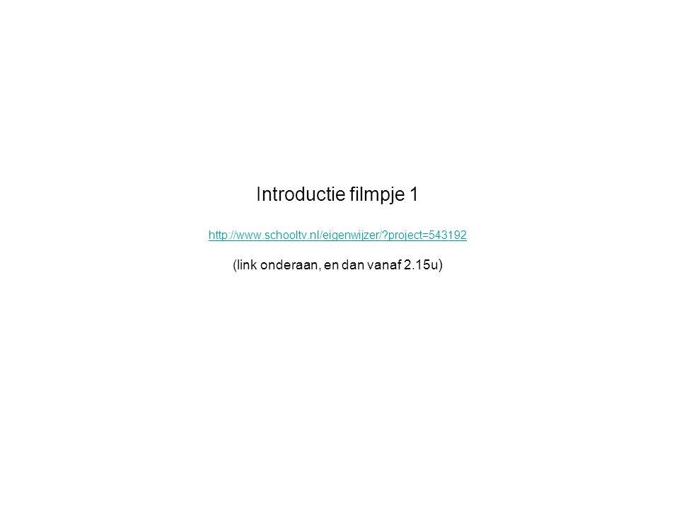 Introductie filmpje 1 http://www. schooltv. nl/eigenwijzer/