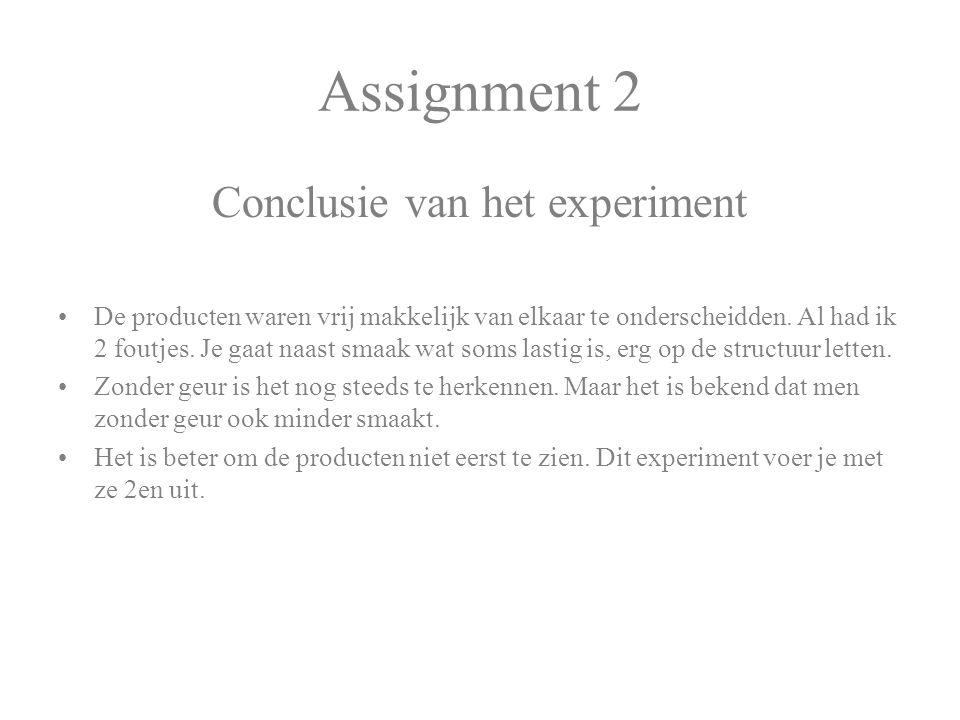Conclusie van het experiment