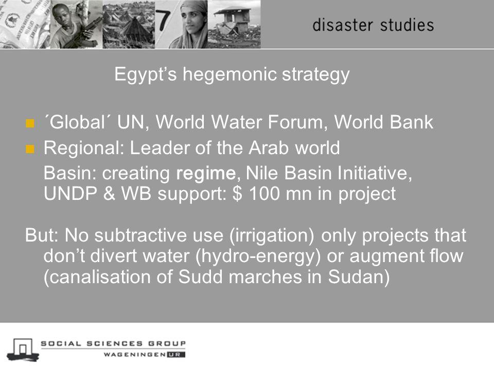 Egypt's hegemonic strategy