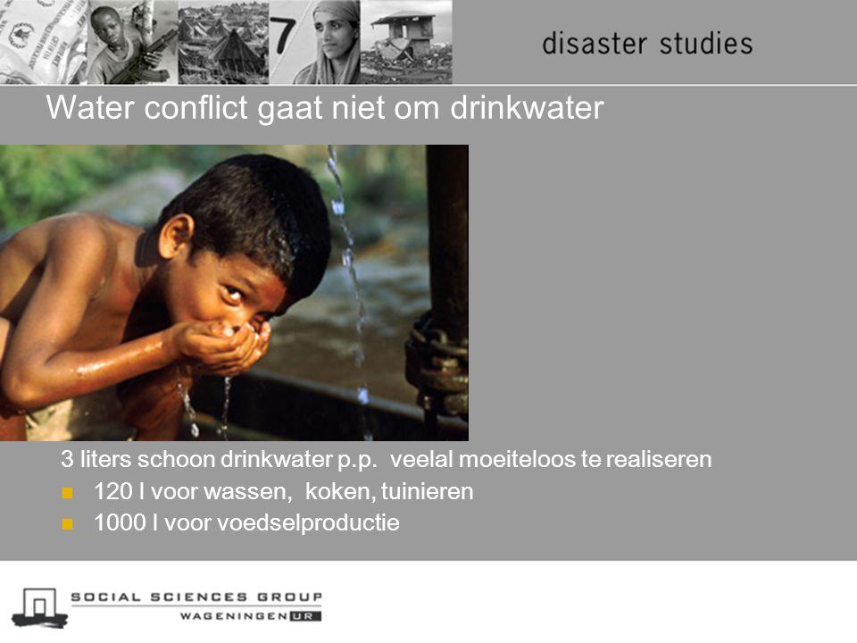 Water conflict gaat niet om drinkwater
