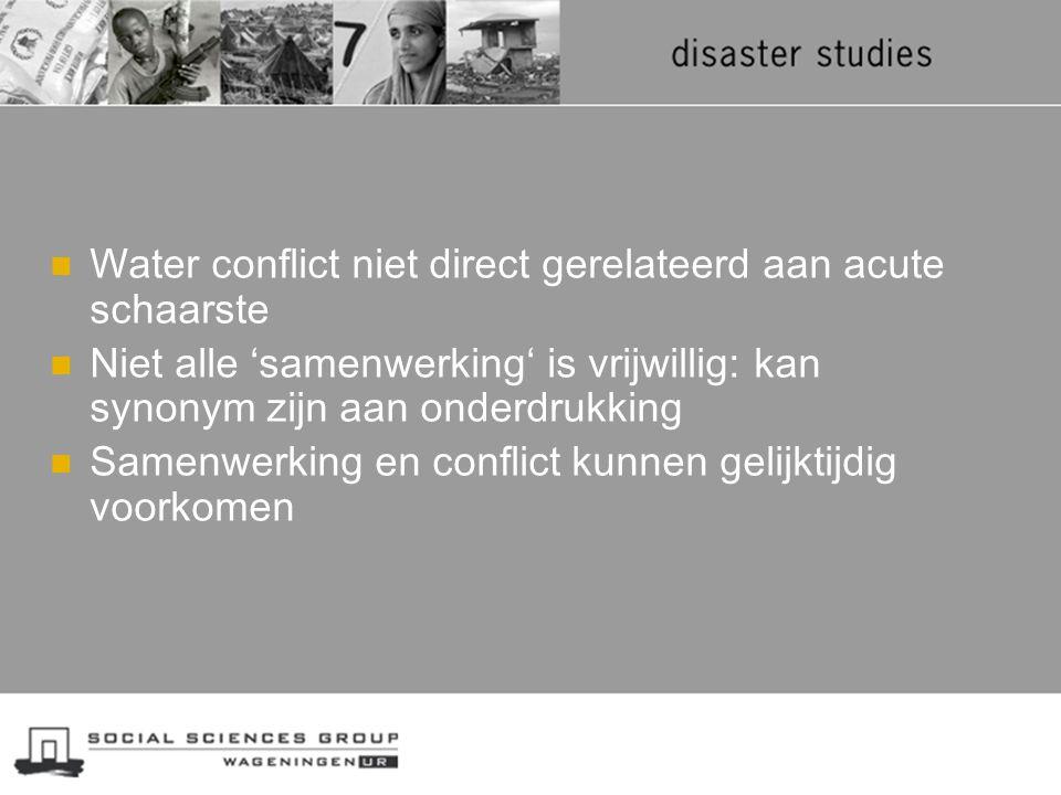 Water conflict niet direct gerelateerd aan acute schaarste