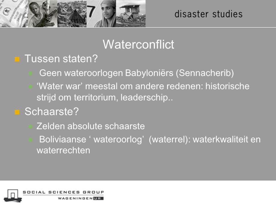 Waterconflict Tussen staten Schaarste