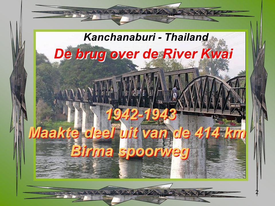Maakte deel uit van de 414 km Birma spoorweg